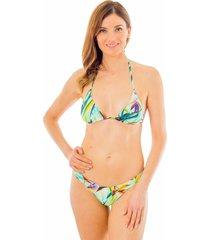 bikini cruzado flor del trópico verde ac mare