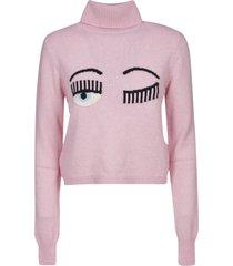 chiara ferragni flirting knit turtleneck sweater