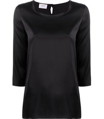 snobby sheep 3/4 sleeves blouse - black