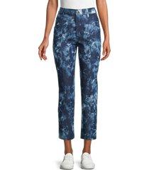 rebecca minkoff women's sandra tie-dye print pants - indigo - size 2