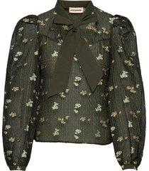 dionne blouse lange mouwen groen custommade