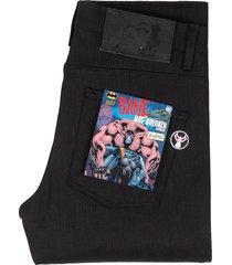 naked & famous weird guy bat breaker selvedge jeans   black   bat207803-blk
