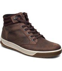 byway tred höga sneakers brun ecco