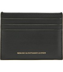 coach women's glovetan flat card case - black
