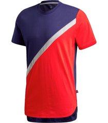 camiseta adidas tan block tee vermelho - vermelho - masculino - dafiti