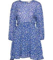 aboodi kort klänning blå american vintage