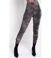 akira croc babe mesh lined stacked legging