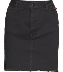 satine kort kjol svart custommade