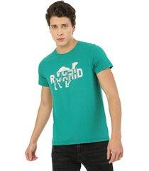 camiseta hombre verde rachid estampada cold 750 camel