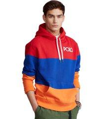 polo ralph lauren men's color-blocked fleece hoodie