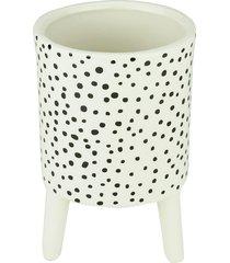 cachepot cerâmica black dotty skin branco