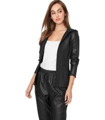 chaqueta g factory motie mixed media jacket negro guess