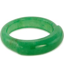 'saddle' jade ring