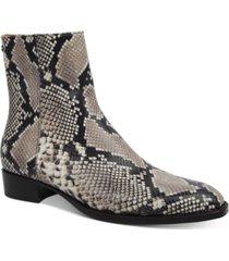 roberto cavalli men's side zipper ankle booties men's shoes