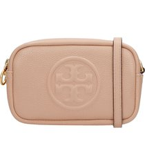 tory burch perry bombe clutch in powder leather