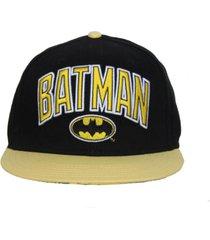 gorra batman oval logo gold brim hat original dc comics