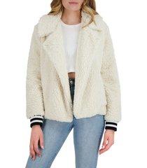 women's bb dakota fleece love jacket, size large - beige