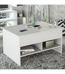 mesa de centro articulada popup branco - appunto