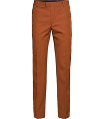 wool twill straight, kostuumbroek formele broek bruin calvin klein