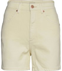 mom short shorts denim shorts beige wrangler