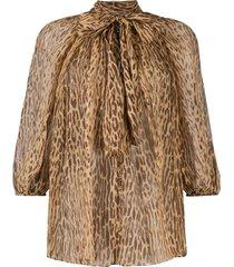 zimmermann espionage fluted blouse - brown