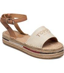tropical fade opened espadrille sandaletter expadrilles låga beige tommy hilfiger