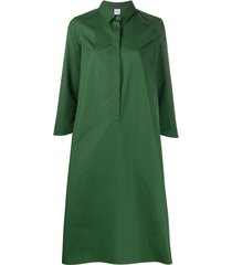 aspesi oversized 3/4 sleeves shirt dress - green