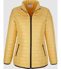 gewatteerde jas dress in geel