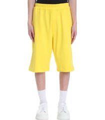 jil sander shorts in yellow cotton