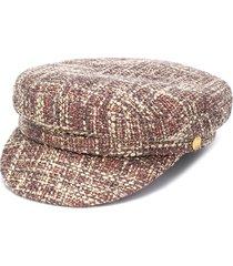 manokhi greek fisherman tweed hat - neutrals