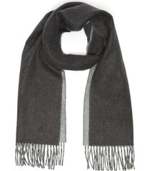 contrast reversible cashmere scarf