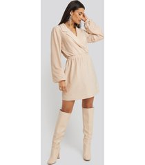 na-kd party glittrigt linne - beige