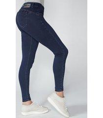 jeans tiro medio pitillo skinny 2515 azul amalia jeans
