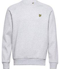 raglan pique sweatshirt sweat-shirt trui grijs lyle & scott