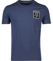 donkerblauw t-shirt ecoalf 'natal because'