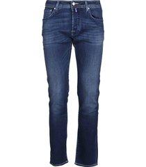 jacob cohen blue cotton blend jeans