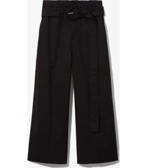 proenza schouler white label cotton paper bag pants black 6