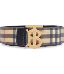 monogram vintage check belt
