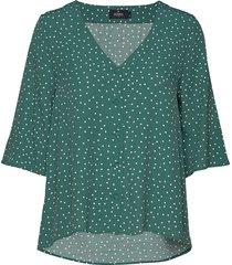 délia blouse blouses short-sleeved grön morris lady