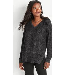 maurices womens haven cozy v neck sweatshirt