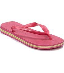 brasil logo flip flop shoes summer shoes flip flops rosa havaianas
