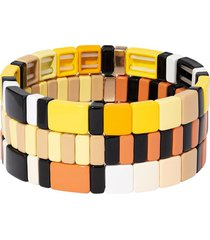 roxanne assoulin sunny honey bracelet - set of 3 - black