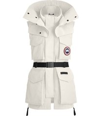 canada goose x angel chen belted longline gilet - white