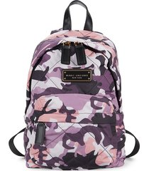marc jacobs women's quilted nylon camo print backpack - purple camo