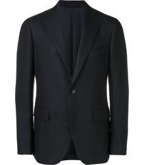 lardini canvas blazer - blue