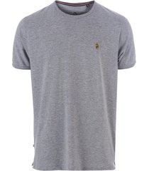 luke 1977 mens trouser snake crew neck t-shirt size l in grey