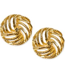 decorative love knot stud earrings in 10k gold