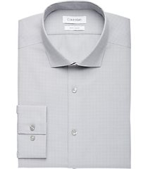 calvin klein gray & brick dot slim fit dress shirt
