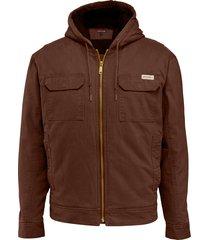 wolverine men's lockhart jacket dark bison, size s