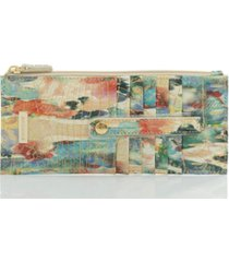 brahmin credit card wallet snow leopard melbourne